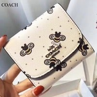 COACH New fashion more letter bee wallet purse women