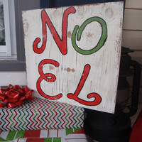 Noel sign - Porch sign - Christmas porch sign- Rustic Christmas sign- Hand painted sign- Housewarming gift- Christmas decor