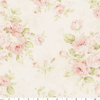 Pink Floral Fabric by the Yard