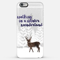 Walking in a Winter Wonderland (transparent) iPhone 6 Plus case by Noonday Design | Casetify