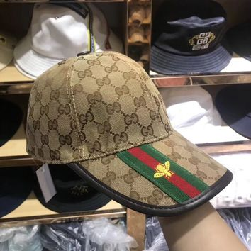 """Gucci"" Unisex Fashion Retro Classic GG Letter Stripe Flat Cap Baseball Cap Couple Casual Sun Hat"
