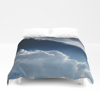 Sky, clouds and lights. Duvet Cover by VanessaGF