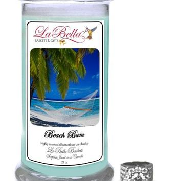 Beach Bum Scented Jewelry Candles