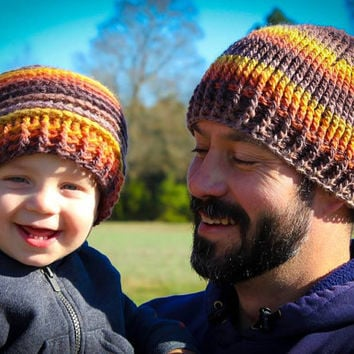 Crochet Pattern for Inside Out Reversible Beanie Hat - 7 sizes, newborn baby to large adult - Welcome to sell finished items