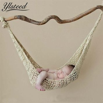 Crochet Hammock Newborn Baby Photography Props Crochet Baby Hanging Cocoon Photo Shoot Knitted Hanging Bed Fotografia Accessorie