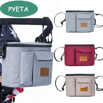 PYETA Diaper Bag For Baby Stuff Nappy Bag Stroller Organizer Baby Bag For Mom Travel Hanging Carriage Pram Buggy Cart Bottle Bag