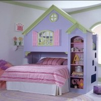 Amazon.com: Tradewins Doll House Wood Loft Bunk Bed: Furniture & Decor