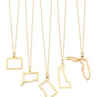 Maya Brenner Designs 14k Gold State Necklaces