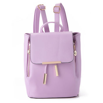 Women Backpack High Quality PU Leather Shoulder Follower Pattern Elastic Band Lady Messenger Vintage