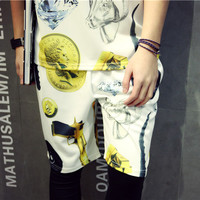 Summer Shorts Men Korean Beach Pants 3D Cotton Sportswear [6541155075]