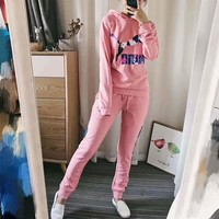 puma print women man can wear hooded top pullover pants two piece sportswear suit h a  number 2