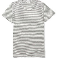 Sandro - Striped Linen-Jersey T-Shirt | MR PORTER