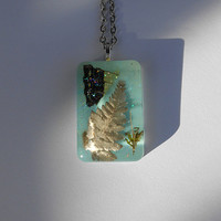 Ghost Fern/Butterfly Wing/Moss Spring Necklace