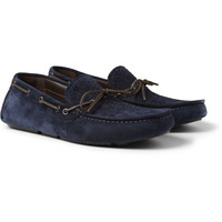 Bottega Veneta - Intrecciato Suede Driving Shoes | MR PORTER