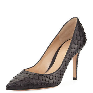 Gianvito Rossi Python Point-Toe 85mm Pump