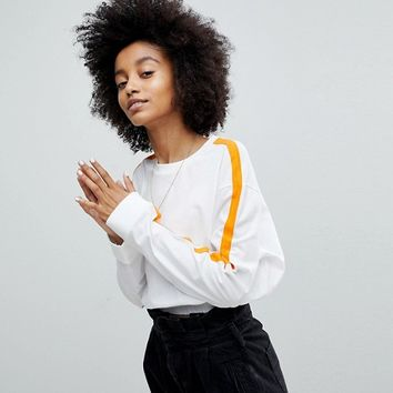 ASOS Crop Top with Contrast Panel Detailing at asos.com