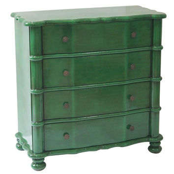 Crestview Collection Kelly Emerald Green 4 Drawer Accent Chest