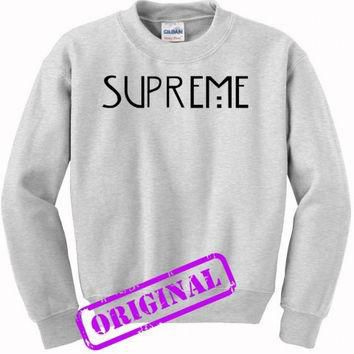 supreme american horror story copy for sweater ash, sweatshirt ash unisex adult