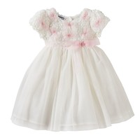 Blueberi Boulevard Floral Bow Dress - Baby Girl, Size: