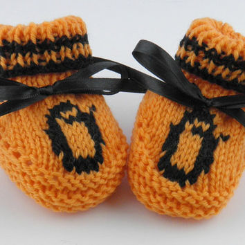 Baltimore Orioles Super Fan MLB Booties Size 0 to 3 months