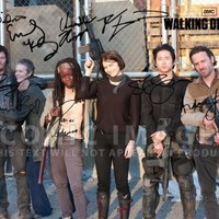 The Walking Dead Season 4 Cast Tv Print (11.7 X 8.3) Andrew Lincoln Norman Reedus Danai Gurira Steven Yeun Daryl Dixon
