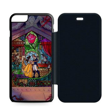Beauty and The Beast Art Leather Wallet Flip Case iPhone 6 Plus | 6S Plus