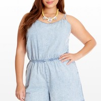 Plus Size Rodeo Denim Romper | Fashion To Figure