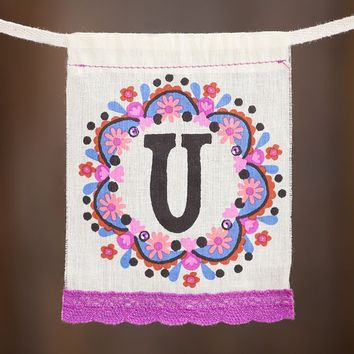 """U""  Mini  Inspiration  Flag  From  Natural  Life"