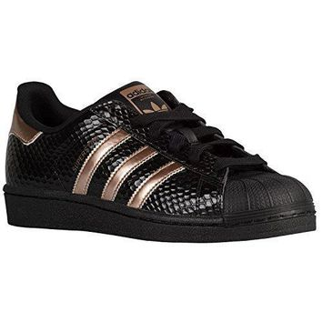 Adidas Women's Superstar Casual Shoes 9 M US Copper Rose Gold Black