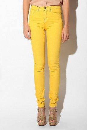 UrbanOutfitters.com > BDG Cigarette High-Rise Jean - Yellow