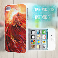 unique iphone case, i phone 4 4s 5 case,cool cute iphone4 iphone4s 5 case,stylish plastic rubber cases cover, yellow abstract  elegant  2928