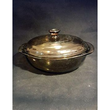 Vintage Visions Pyrex Round 1.5 Liter Lidded Casserole Dish