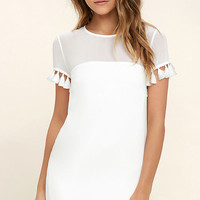 Iced Latte White Shift Dress