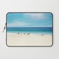 wave watching Laptop Sleeve by sylviacookphotography