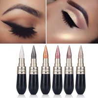 HENGFANG Shimmer Eyeshadow Stick Waterproof Glitter Eye Shadow Long-lasting Soft Eyeliner Eyes Make