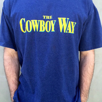 "Vintage 1994 Movie ""The Cowboy Way"" T Shirt Staring Woody Harrelson and Kiefer Sutherland."