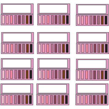 30 Makeup eyeshadow set daily life planner stickers,Life planner stickers,sticker printing singapore,Perfect for Erin Condren life planner