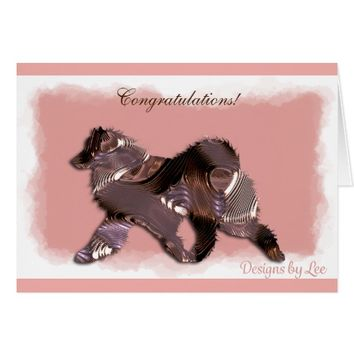 Samoyed Art Deco Greeting Card; Customize Message! Card