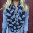 Up the Ladder Knit Infinity Scarf