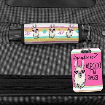 Alpaca My Bags Bag Tag, Funny Luggage Wrap, Llama bag tag, Graduation Gift, Gift for Teen, Bridesmaid Gifts, Travel Gifts, Gift for Women