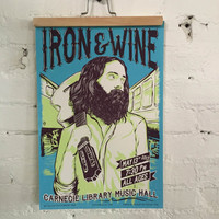 Iron and Wine Screenprinted Poster