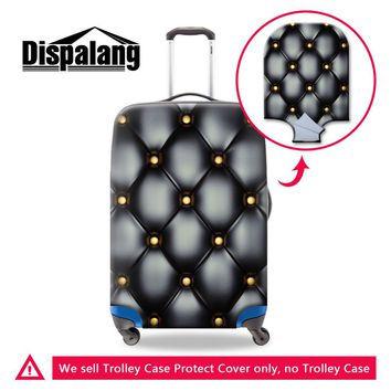 Vintage Leather Print Travel Suitcase Protector Waterproof Elastic Stretch Luggage Protective Cover For 18-30 Inch Trolley Cases