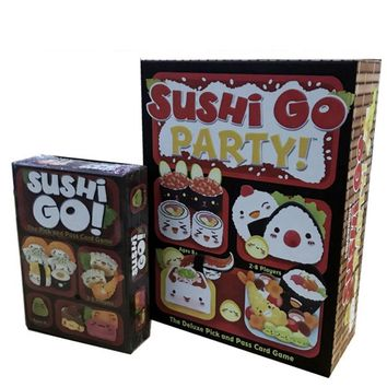 Sushi Go Board Game Sushi Go Party The Pick And Pass Cards Game 2-5 Players Family Game For Children With Parents indoor games