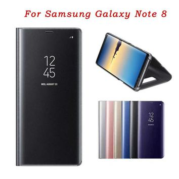 Luxury Smart window Sleep Wake UP Flip Leather Case Cover for Samsung Galaxy Note 8