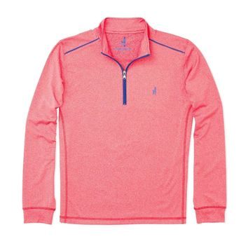Lammie 1/4 Zip Prep-Formance Pullover in Bahia Red by Johnnie-O - FINAL SALE