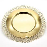 K9 Crystal Fruit Plate Gold Plated Metal Cake Pan Dessert Plate Tableware Dishes for Home Decoration Serving Tray