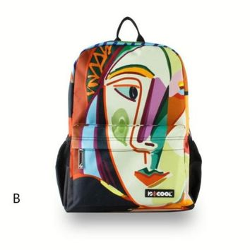 CrazyPomelo Picasso Abstract Painting Backpack B