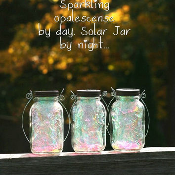 Fairy Lanterns - Christmas Gift - Mason Jar - Garden Decor - Fairy Realm - Mason Jar Solar Light - Outdoor Lighting - Mason Jar Decor