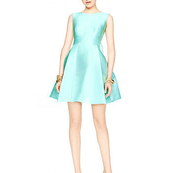 Kate Spade Open Back Silk Mini Dress Nisbet Blue