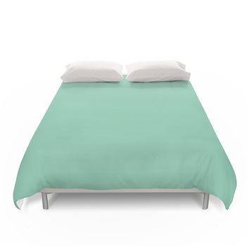 Society6 Mint Green Duvet Covers
